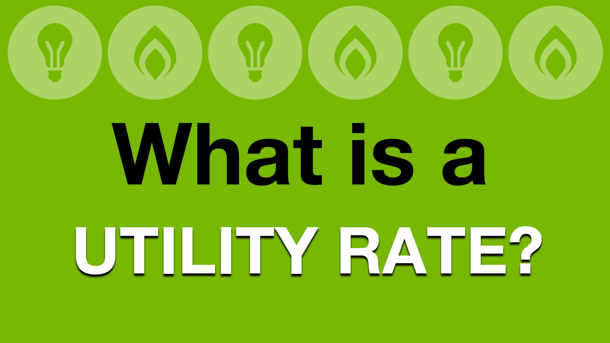 Glossary: Utility Rate